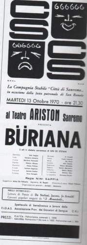 Il manifesto della Buriana del 13 Ottobre 1970